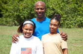 Happy African-American Family — Stock Photo