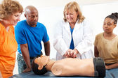 Adult Education Students Learn CPR — Stock Photo