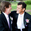 Stock Photo: Two Gay Grooms on Wedding Day