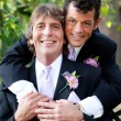 Handsome Gay Couple  - Wedding Portrait — Stock Photo