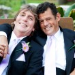 Handsome Gay Men on Wedding Day — Stock Photo