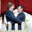 Stock Photo: Happy Gay Couple Marries in Park