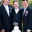 Stock Photo: Gay Wedding Couple with Minister