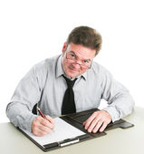 Businessman Taking Notes — Stock Photo