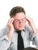 Zakenman met hoofdpijn — Stockfoto