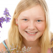 Portrait of Beautiful Blond Teenage Girl — Stock Photo