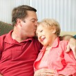 Caring For Elderly Mother — Stockfoto