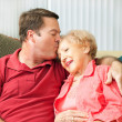 Caring For Elderly Mother — Stock Photo