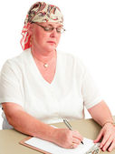 Chemotherapy Patient Back at Work — Stock Photo