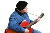 Cancer Survivor Playing Guitar — Stock Photo