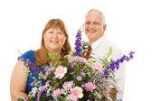 Kwiaty dla żony — Zdjęcie stockowe
