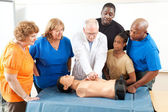 First Aid Training for Adults — Stock Photo