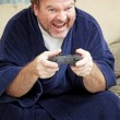 Guy at Home Playing Video Games — Stock Photo