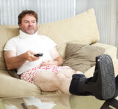 At Home With Injuries — Stock Photo