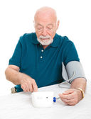 Home Blood Pressure Check — Stock Photo