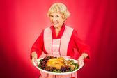 Thanksgiving Dinner with Grandma — Stock Photo