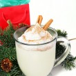 Holiday Egg Nog on White — Stock Photo