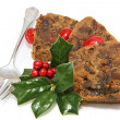 Delicious Christmas Fruitcake - Sliced — Stock Photo