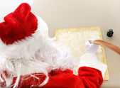 Santa Makes His List — Stock Photo