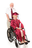 Disabled Senior Graduate and Spouse — Stock Photo
