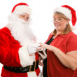 Gift For Mrs Santa Claus — Stock Photo