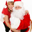 Santa and Mrs Claus in Love — Stock Photo
