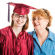 High School Graduate and Supportive Mom — Stock Photo