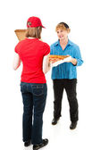 Customer Receiving Pizza Delivery — Stock Photo
