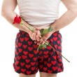 Valentines Day - Rose for Her — Stock Photo
