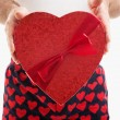 Stock Photo: Valentine Candy Heart Gift