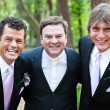 Stock Photo: Minister Posing With Gay Wedding Couple