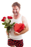 Scruffy Valentines Guy in Underwear — Stock Photo