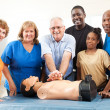 Stock Photo: Class on CPR and First Aid