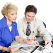 Senior Woiman Consults Accountant — Stock Photo