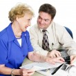 Accountant with Senior Lady — Stock Photo