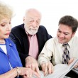Accountant with Senior Clients — Stock Photo