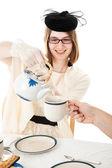 Tea Party - Teen Serves Tea — Stock Photo