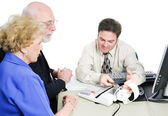 Seniors Consult Tax Accountant — Stock Photo