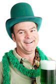St Patricks Day - Drunk on Green Beer — Stock Photo