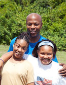 African-American Family — Stock Photo