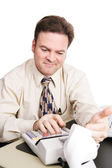 Accountant Satisfied — Stock Photo