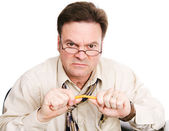 Frustrated Accountant or Businessman — Stock Photo
