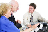 Tax Time With Accountant — Stock Photo
