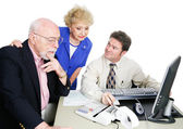 Seniors With Accountant — Stock Photo