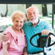 Active Seniors in Golf Cart — Stock Photo #45367053