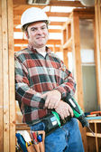 Construction Worker - Carpentry — Stock Photo