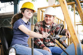Vocational Training in Construction — Stock Photo