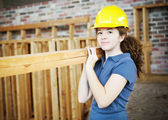 Young Female Construction Worker — Stock Photo