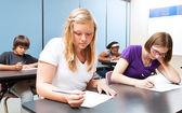 Test de classe de lycée — Photo