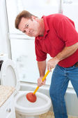 Nasty Plumbing Job — Stock Photo